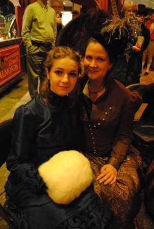 mother and daughter in victorian costume