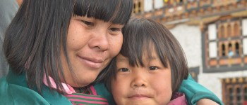Mother and daughter, Bhutan