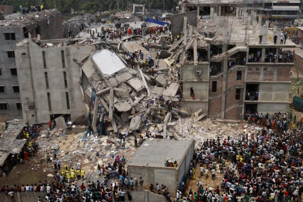 Rana Plaza factory building collapse in Dhaka, Bangladesh
