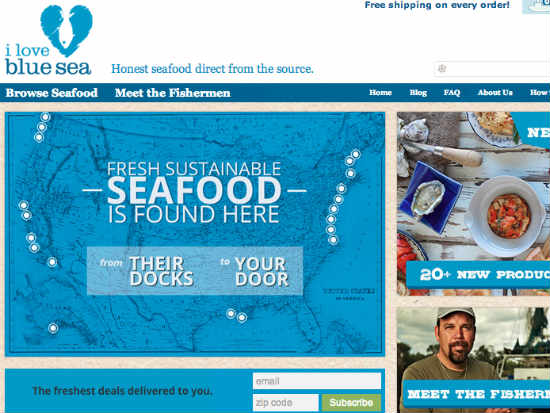 Blue Sea Labs fish distribution company screenshot
