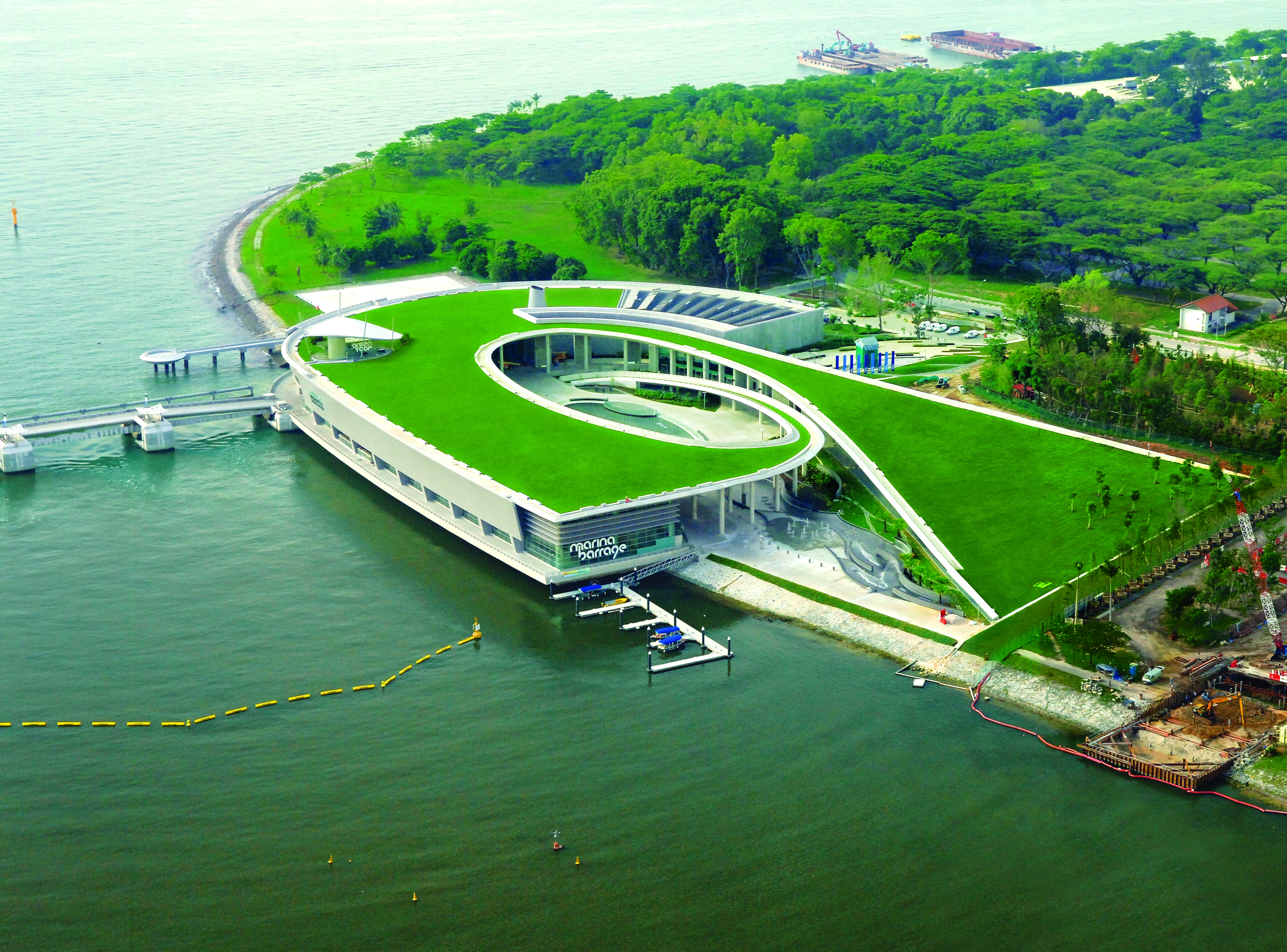 Singapore's Marina Barrage reservoir