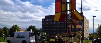 Kids create street art that generates solar power