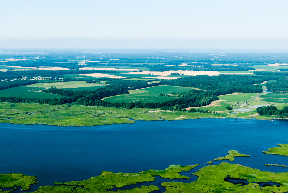 Farmland on Chesapeake Bay